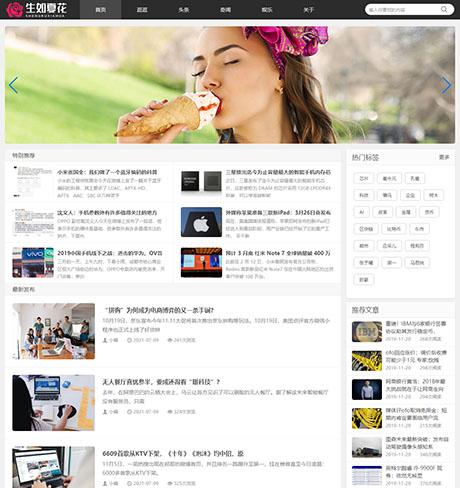 响应式博客自媒体运营类网站模板